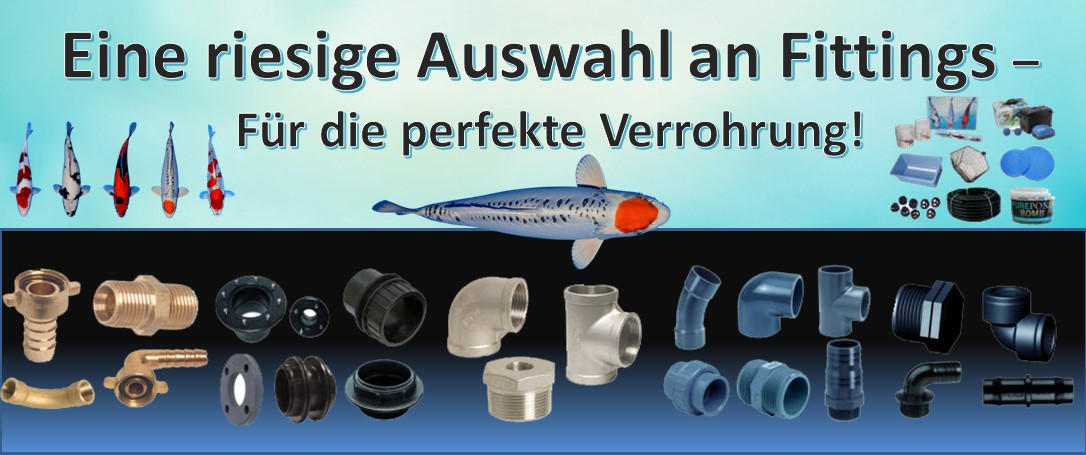 Fittings aus PVC, Edelstahl, Messing