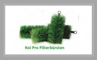 Filterbürsten Koi Pro. Der ideale Vorfilter für größere Filter.