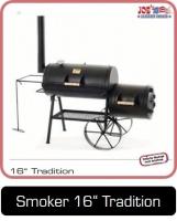 JOEs Barbeque Smoker Silver Edition, 16 Zoll Tradition für Einsteiger.
