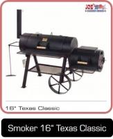 Smoker 16 Zoll Texas Classic mit einer größeren Garkammer.