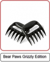 Grillgabel Bear Paws Grizzly Edition 2 Stück