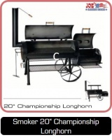 Smoker Grill 20 Zoll Championship Longhorn bei Anjas Grill-Shop
