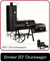 Smoker 20 Zoll Chuckwagon, sehr gut geeignet für den gewerblichen Bereich.
