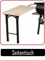 JOEs Barbeque Zubehör, Seitentisch mit massiver Holzplatte.