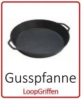 Gusspfanne/Partypfanne mit 2 Loop-Griffen