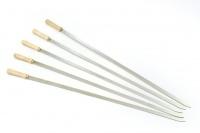 Edelstahlspieße mit Holzgriff für Spießhalter Kugelgrill
